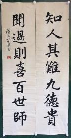 王金慎   对联   【卖家包邮】   纯手绘    自鉴
