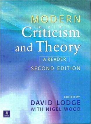 Modern Criticism and Theory:A Reader (2nd Edition)