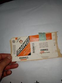 烟标5(品相如图所示粘在一张纸上)