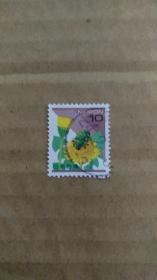 日本邮票 自然系列 1992 1销 金甲虫