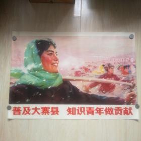 宣传画:普及大寨县 知识青年做贡献