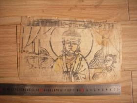 四季老母-线刻木版年画-清代、民国宣纸印