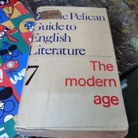 the pelican guideto english literature 7  the modern age