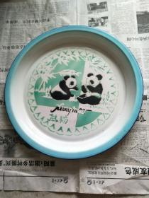 熊猫搪瓷茶盘