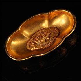 铜打造鎏金碗