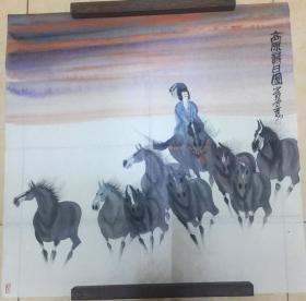 曹小钦画作(高原落日图)
