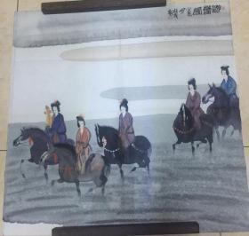 曹小钦画作(游乐图)尺寸:69*69CM