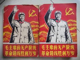 毛主席的无产阶级革命路线胜利万岁(上下册,1966年)