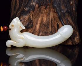 玉髓,保真真正和田玉,玉质温润细腻,皮壳包浆一流,雕刻生动,线条流畅,品相一流,价格低廉