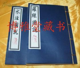 明版《罗经图说/水法图说》周惇庸 董德彰著/线装32开2册全 优质道林纸影印本