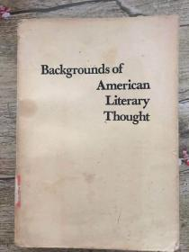 Backgrounds of American Literary Thought
