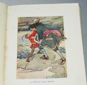 1926年The Story of Peter Pan.《小飞侠彼得•潘的故事》儿童版 A.Woodward绘本 增补插画之王Arthur Rackham绝美彩图 小开本