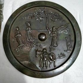 传世人物铜镜,,皮壳包浆一流品相一流...超低.价格......