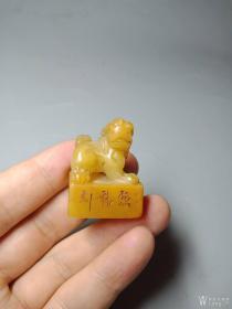 老寿山石印章.