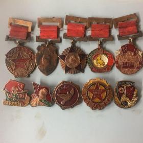 古玩杂项红色收藏抗美援朝勋章纪念章十枚一套