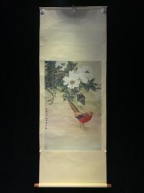 国立博物馆藏 喻仲林 山雉图 2479 老字画日本春茶室书房挂轴