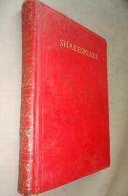 COMPLETE WORKS OF SHAKESPEARE 《莎士比亚全集》红色全羊皮精装 增补精美彩图 牛津版大开本