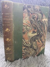 1899年  PEG WOFFINGTON  含HUGH THOMSON 大量插图  3/4真皮装帧  上书口刷金  毛边本