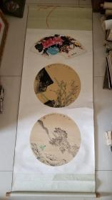 花鸟画 一张三幅