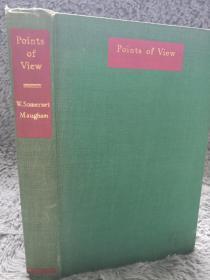 1958年初版  POINTS OF VIEW  毛姆文集《观点》