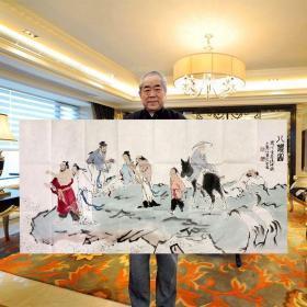 范曾作品八仙图纯手绘精品保真收藏送礼装饰赠合影照片鉴定证书