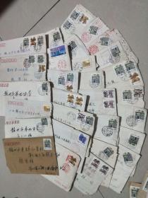 一个人的信件实寄封152个,都有邮票和信件