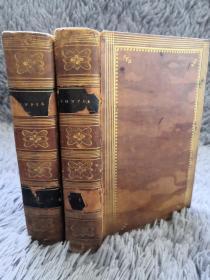 1803年  POEMS BY WILLIAM COWPER  2本全  全皮装帧   《威廉·柯珀诗集》