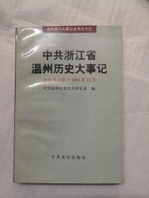 中共浙江省温州历史大事记