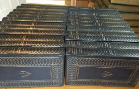 1967年Complete Works Of W Somerset Maugham 《毛姆全集》 23册 仿皮精装 书脊、封面烫金图案 海量插图 瑞士印刷