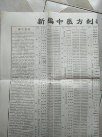 新编中医方剂歌诀二百首简表  (送针灸穴位挂图说明)