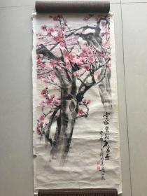 中国美协会员、国家一级美术师 苏州著名书画家、版画家  劳思——红梅花开(保真)