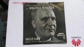 外文原版  黑胶唱片 PHILIPS  BRUNO WALTER   MOZART 本册唱片信息:33/3/1  PHILIPS  01173.2L .A 01173 L . 本册黑胶唱片 共一张。