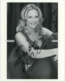 现代女明星女影星Brecc.手写亲笔签名肖像照片一张,现代打印相纸,亲笔签名