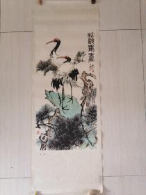 仙鹤 杜廷楹作 画