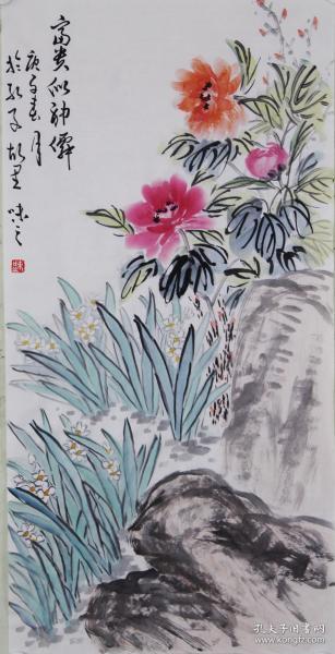 【自画自销】当代艺术家协会副主席王丞手绘    富贵似神仙2051