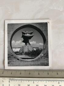民国时期山西运城池神庙风景老照片