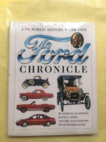 CHRONICLE PICTORIAL HISTORY FROM 1893(汽车百年史图册、精装本、8开、品好)实物拍摄
