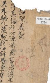 敦煌遗书 法藏 P2294昙矌 大乘百法明门论开宗义记手稿。纸本大小30*80厘米。宣纸原色仿真。微喷