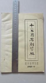 十笏园石刻资料——潍坊市博物馆——1985.4——油印本——罕见稀少