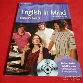 English in Mind Level 3 Students Book with DVD-ROM 含光盘