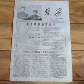 文革小报:燎原1968年第42期 毛主席的重要指示 林副主席的一封信。