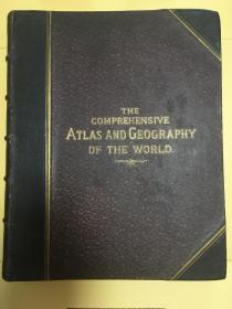 【包邮】1882年版英语原版世界综合地图集 The Comprehensive Atlas and Geography of the World