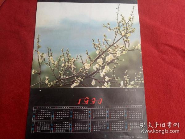 怀旧收藏挂历年历《1990春》(日本)入江秦吉摄影甘肃人民出版
