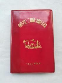 老日记本(中国共产党三二二油田第一次代表大会纪念)