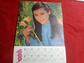 懷舊收藏掛歷年歷《1989青春年華》馬元浩攝影河北美術出版