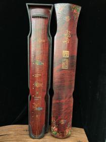 乐器漆器古琴 带盒子