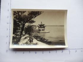 老照片14736-民国或五十年代-南京-玄武湖凉亭