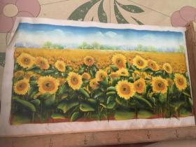油画:向日葵