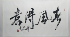 原中国书协副主席,现为中国书协顾问,著名书法家尉天池精品横幅镜片