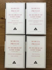 In search of lost time (4 volumes )追忆似水年华 (全4册)Everyman's Library 人人文库 Marcel proust 马塞尔普鲁斯特